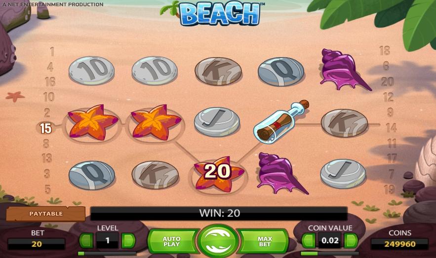 игровой автомат Beach