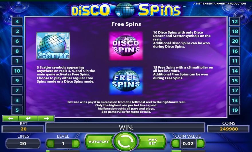 Бесплатные спины Disco Spin
