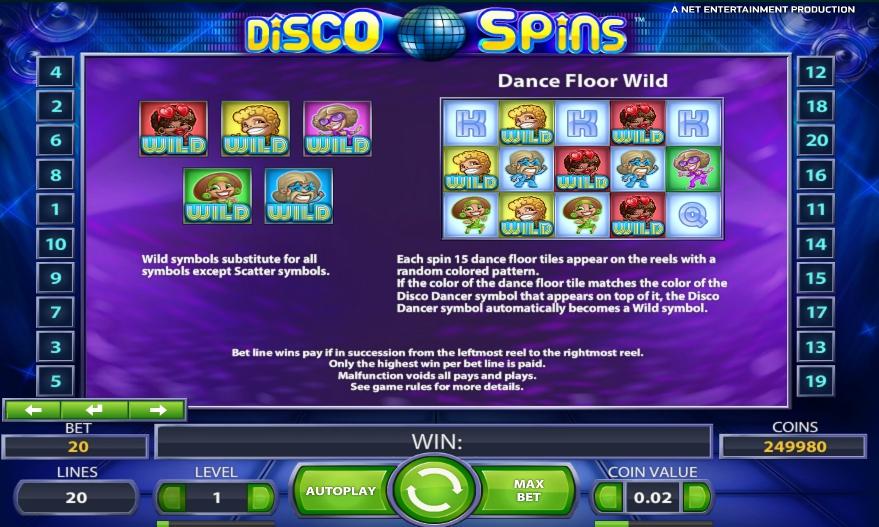 Бонусы и дикие символы Disco Spin