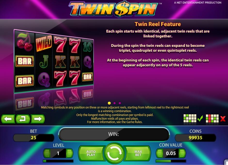 Линии и Барабаны Twin Spin
