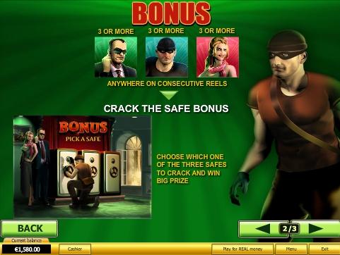 Spin 2 Million бонусная игра Вскрой сейф